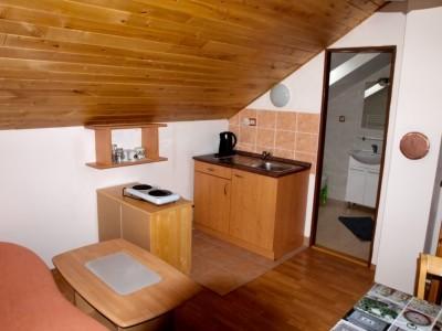 vybavená kuchyňka v každém apartmánu